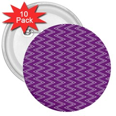 Purple Zig Zag Pattern Background Wallpaper 3  Buttons (10 Pack)