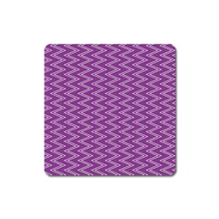 Purple Zig Zag Pattern Background Wallpaper Square Magnet by Nexatart