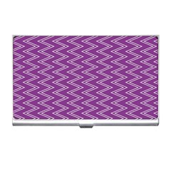 Purple Zig Zag Pattern Background Wallpaper Business Card Holders
