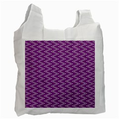 Purple Zig Zag Pattern Background Wallpaper Recycle Bag (one Side)