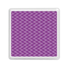 Purple Zig Zag Pattern Background Wallpaper Memory Card Reader (square)  by Nexatart