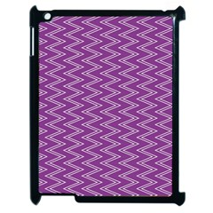 Purple Zig Zag Pattern Background Wallpaper Apple Ipad 2 Case (black) by Nexatart