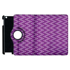 Purple Zig Zag Pattern Background Wallpaper Apple Ipad 2 Flip 360 Case