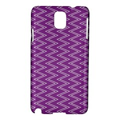 Purple Zig Zag Pattern Background Wallpaper Samsung Galaxy Note 3 N9005 Hardshell Case