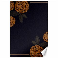 Floral Roses Seamless Pattern Vector Background Canvas 24  X 36  by Nexatart