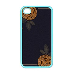 Floral Roses Seamless Pattern Vector Background Apple Iphone 4 Case (color) by Nexatart
