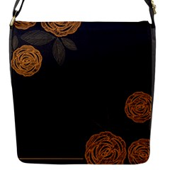 Floral Roses Seamless Pattern Vector Background Flap Messenger Bag (s)