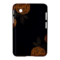 Floral Roses Seamless Pattern Vector Background Samsung Galaxy Tab 2 (7 ) P3100 Hardshell Case