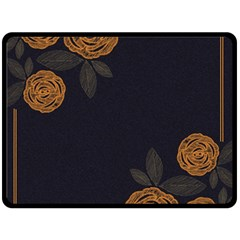 Floral Roses Seamless Pattern Vector Background Double Sided Fleece Blanket (large)