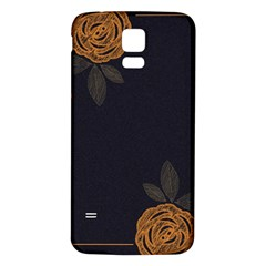 Floral Roses Seamless Pattern Vector Background Samsung Galaxy S5 Back Case (white) by Nexatart