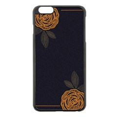 Floral Roses Seamless Pattern Vector Background Apple Iphone 6 Plus/6s Plus Black Enamel Case by Nexatart