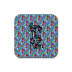 Happy Mothers Day Celebration Rubber Coaster (square)  by Nexatart
