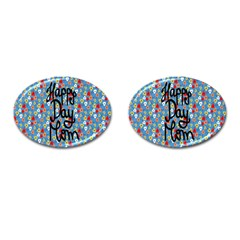 Happy Mothers Day Celebration Cufflinks (oval)