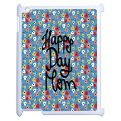 Happy Mothers Day Celebration Apple Ipad 2 Case (white) by Nexatart