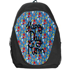 Happy Mothers Day Celebration Backpack Bag by Nexatart