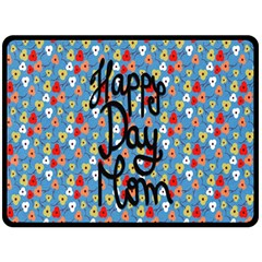 Happy Mothers Day Celebration Double Sided Fleece Blanket (large)