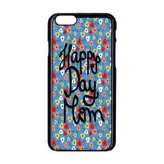 Happy Mothers Day Celebration Apple Iphone 6/6s Black Enamel Case