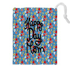 Happy Mothers Day Celebration Drawstring Pouches (xxl) by Nexatart