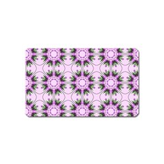 Pretty Pink Floral Purple Seamless Wallpaper Background Magnet (name Card) by Nexatart