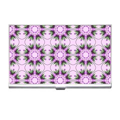 Pretty Pink Floral Purple Seamless Wallpaper Background Business Card Holders by Nexatart