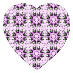Pretty Pink Floral Purple Seamless Wallpaper Background Jigsaw Puzzle (heart) by Nexatart
