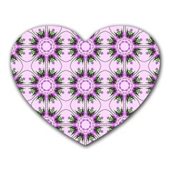 Pretty Pink Floral Purple Seamless Wallpaper Background Heart Mousepads