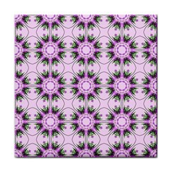 Pretty Pink Floral Purple Seamless Wallpaper Background Face Towel by Nexatart