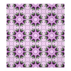 Pretty Pink Floral Purple Seamless Wallpaper Background Shower Curtain 66  X 72  (large)  by Nexatart