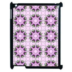 Pretty Pink Floral Purple Seamless Wallpaper Background Apple Ipad 2 Case (black) by Nexatart