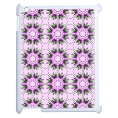 Pretty Pink Floral Purple Seamless Wallpaper Background Apple Ipad 2 Case (white) by Nexatart