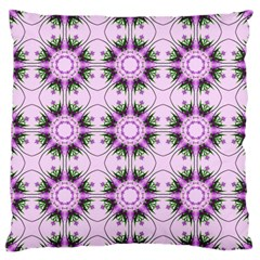 Pretty Pink Floral Purple Seamless Wallpaper Background Large Cushion Case (two Sides)