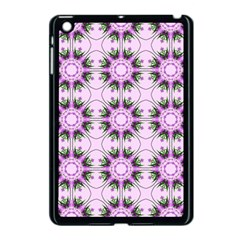 Pretty Pink Floral Purple Seamless Wallpaper Background Apple Ipad Mini Case (black) by Nexatart