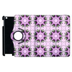 Pretty Pink Floral Purple Seamless Wallpaper Background Apple Ipad 3/4 Flip 360 Case