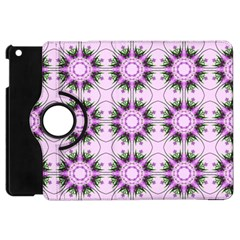 Pretty Pink Floral Purple Seamless Wallpaper Background Apple Ipad Mini Flip 360 Case