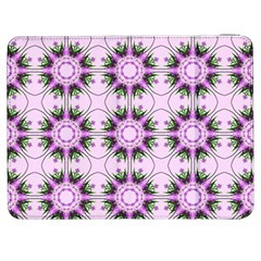Pretty Pink Floral Purple Seamless Wallpaper Background Samsung Galaxy Tab 7  P1000 Flip Case