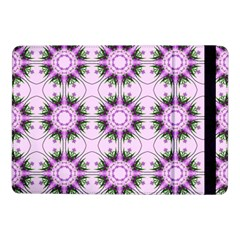 Pretty Pink Floral Purple Seamless Wallpaper Background Samsung Galaxy Tab Pro 10 1  Flip Case