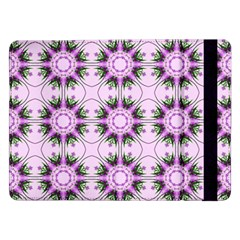 Pretty Pink Floral Purple Seamless Wallpaper Background Samsung Galaxy Tab Pro 12 2  Flip Case by Nexatart