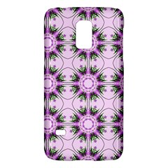 Pretty Pink Floral Purple Seamless Wallpaper Background Galaxy S5 Mini by Nexatart