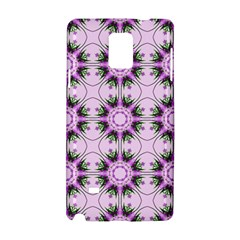 Pretty Pink Floral Purple Seamless Wallpaper Background Samsung Galaxy Note 4 Hardshell Case