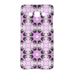 Pretty Pink Floral Purple Seamless Wallpaper Background Samsung Galaxy A5 Hardshell Case  by Nexatart