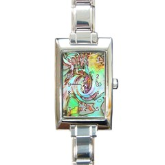 Art Pattern Rectangle Italian Charm Watch