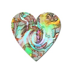 Art Pattern Heart Magnet