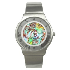 Art Pattern Stainless Steel Watch by Nexatart