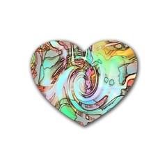 Art Pattern Rubber Coaster (heart)  by Nexatart