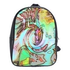 Art Pattern School Bags (xl)  by Nexatart