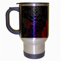Colorful Background Of Multi Color Floral Pattern Travel Mug (silver Gray) by Nexatart