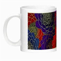 Colorful Background Of Multi Color Floral Pattern Night Luminous Mugs