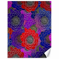Colorful Background Of Multi Color Floral Pattern Canvas 18  X 24