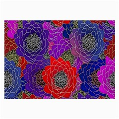 Colorful Background Of Multi Color Floral Pattern Large Glasses Cloth (2 Side) by Nexatart