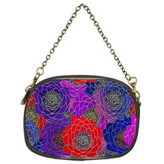 Colorful Background Of Multi Color Floral Pattern Chain Purses (two Sides)  by Nexatart